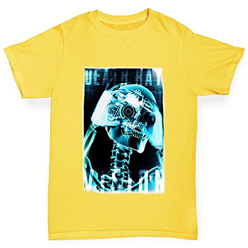 Bold X-ray (TWISTED ENVY Jungen T-Shirt Death Ray Vision Print Age 12-14 Gelb)