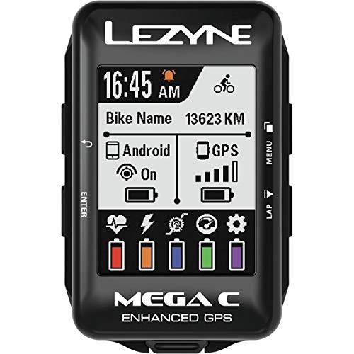 Lezyne Mega C - GPS, Color Negro, Color