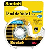 667 Double-Sided Removable Office Tape and Dispenser, 3/4'' x 400'', Sold as 1 Roll