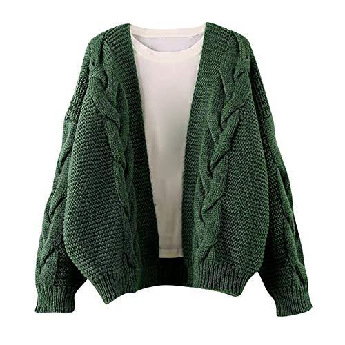 Sannysis Damen Pullover Herbst Winter Elegant Strickwaren Sweater Langarm Pullover Mantel Strickpullover