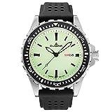 Dugena Herren Quarz-Armbanduhr, Gehärtetes Mineralglas, Wasserdicht bis 20 bar, Sportuhr, Schwarz/Silber, 4460679