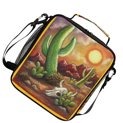 Per picnic galassia a spalla isolata borsa da pranzo per scaldacollo regolabile per cranio animale con teschio di tramonto