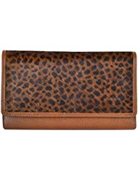 RS LEATHER Women's Trendy Genuine Leather Wallet (Light Brown)
