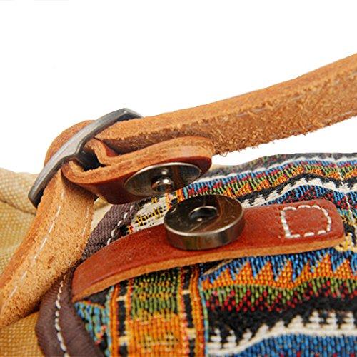 GSPStyle Unisex Canvas Taschen Herren Schultertasche Leder Cross Body Persönliche Brusttasche Khaki