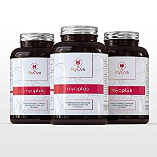 3 Pack of MyOva myo-Plus - Natural Supplement for PCOS with 4000mg Myo-Inositol + 200ug Folate + 100ug Chromium - **15% Saving** - 90 Days Supply, 360 Tablets - Made in The UK