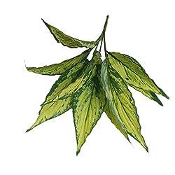 Artificial Silk Magnolia Foliage Leaf Replica Imitation Plant 4 Colors - yellow, 12 IN
