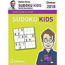 Stefan Heine: Sudoku Kids 5 bis 9 2018 - Tagesabreißkalender, Rätselspaß, Logik und Wissen - 11,8 x 15,9 cm
