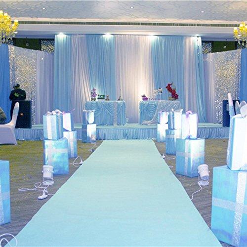 KOOCO Weißer Teppich 10 X 1 M Hochzeit Gang Stock Runner Hollywood Awards Party Dekoration Polyester Boden Teppich Läufer Party Veranstaltungen - Gang Hochzeit Läufer Rot