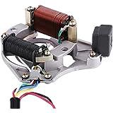 Qiilu 2 Placa del estator magnético de encendido de bobina para cuatro tiempos 50cc 70cc 90cc 110cc 125cc ATV