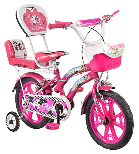 Outdoor® Bikes Jony Pony 14 Inches Bicycle For 3 to 5 Age Group (Semi Assembled With Assembly Instruction Manual & Tool Kit) (Pink)