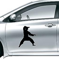 DIYthinker China Chinesische Kampfkunst Shaolin Kung Fu Monk Soldat Traditionelle Kultur Illustration Muster-Auto-Aufkleber auf Auto-Styling Aufkleber 10Cm