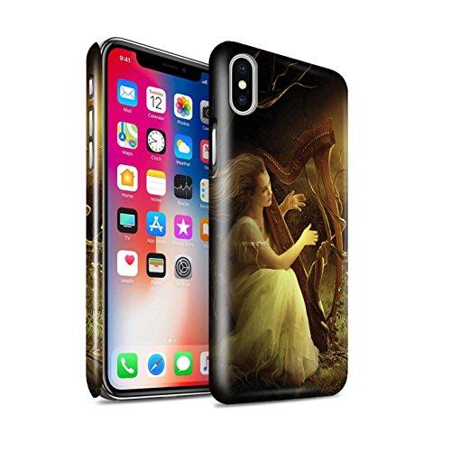Offiziell Elena Dudina Hülle / Glanz Snap-On Case für Apple iPhone X/10 / Melodie der Stille Muster / Trost der Musik Kollektion Melodie der Stille