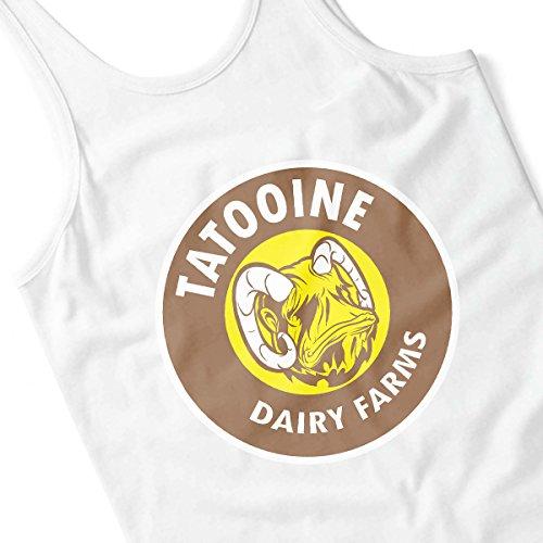 Star Wars Bantha Tatooine Dairy Farms Men's Vest White