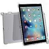 Carcasa para iPad Pro9.7 elegante, transparente y delgada hecha de poliuretanocon soporte para lápiz y compatibilidad con teclado inteligente, de Poetic