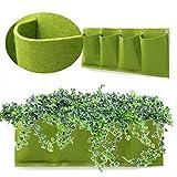 MYAMIA 4 Tasche All'Aperto Interno Muro di Montaggio Finestra Giardino Verticale Verde Appeso Aeratore Piantatore Crescere Borsa