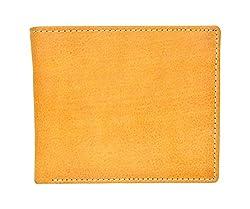 Chandair Pure Leather Light Beige Brown Mens Wallet