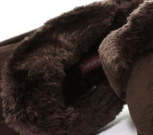 Dunlop, Pantofole donna Marrone (Cioccolato)