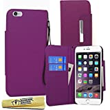 Accessory Master- Viola Custodia Libro Portafoglio in pu Pelle per Apple iPhone 6 Case 4.7
