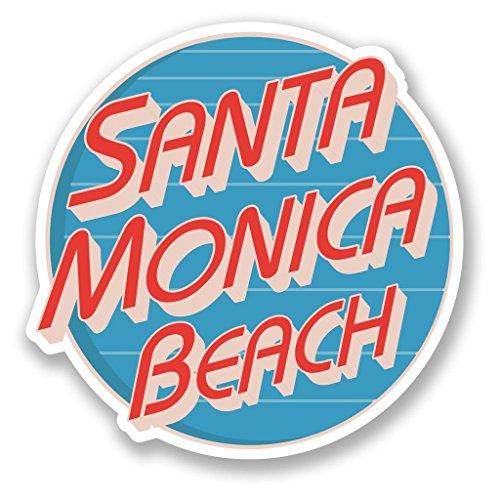 2x Santa Monica Beach Vinyl Aufkleber Aufkleber Laptop Reise Gepäck Auto Ipad Schild Fun # 5726Ofenform - 25cm/250mm Wide