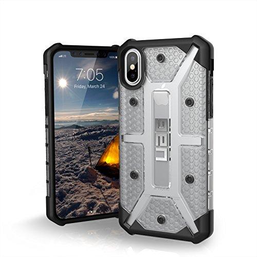 Urban Armor Gear Plasma Schutzhülle Nach US-Militärstandard für Apple iPhone Xs / X - (Transparent) [Qi kompatibel, Verstärkte Ecken, Sturzfest, Antistatisch, Vergrößerte Tasten] - IPHX-L-IC Ultra Light Feather Case