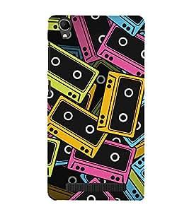 Vizagbeats Audio Cassettes Tapes Back Case Cover for Intex Aqua Power Plus