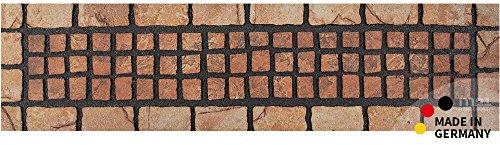 Fußmatte Fußabstreifer NATURE Mosaic Stufenmatte Terracotta recycelter Gummi 23x89x1,0cm rutschfest umweltfreundlich