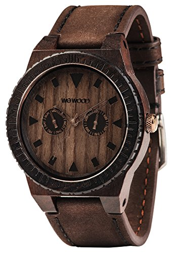 WEWOOD Orologio Uomo - Leo Leather Chocolate