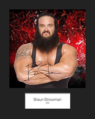 Braun strowman WWE # 1signiert Foto 10x 8drucken