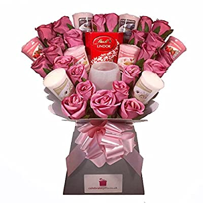 Yankee Collection Scented Candle Bouquet Gift Set with Candle Holder & Chocolates from Celebrate Gifts Ltd