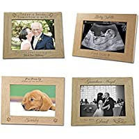Personalised Wooden Photo Frame - Personalised Wedding Gift - Engraved Wooden Photo Frame Gift