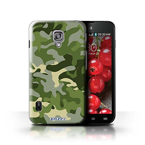 Kobalt® Imprimé Etui / Coque pour LG Optimus L7 II Dual / Marron 4 conception / Série Armée/Camouflage Vert 1