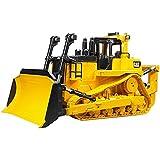 BRUDER - 02452 - Grand Bulldozer CATERPILLAR à chenilles jaune