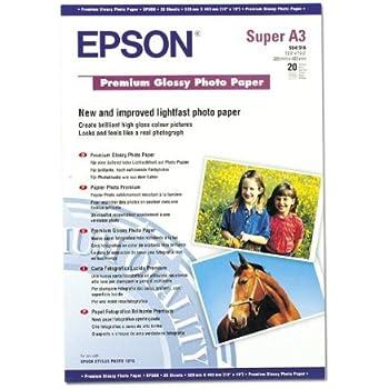Epson Premium C13S041316 - Papier Photo Brillant - A3+