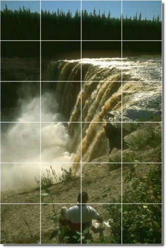 FOTOS DE COCINA AZULEJO CASCADAS MURAL CON 23  17 X 64 77 CM (24) 4 25 X 4 25 AZULEJOS DE CERAMICA