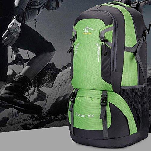 Pawaca 40L / 60L Wanderrucksäcke Wasserdichte Rucksäcke Großer Trekkingrucksäcke Outdoor Sport Daypack für Klettern Bergsteigen Camping Angeln Reisen Radfahren Gr¨¹n