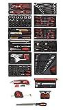 CAROLUS 2200.090 Werkzeugsatz 164-tlg in Kunststoffmodulen, 1 Stück