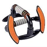 1 Paar Push-Up-Stangen Push-Up-Stangen Schaumstoffgriff Übung Push-Up-Brust Arme Fitness Push-Up-Rack Bar Unterstützung Stahlrohr Ständer - Orange & Grau