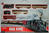 Super Train Rail King Intelligent Classical Train Set with Light, Smoke and Sound, Multi Color