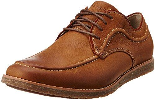 Hush Puppies Men's Hade Jester Tan Light Brown Leather Sneakers - 10 UK/India (44 EU)(8243104)