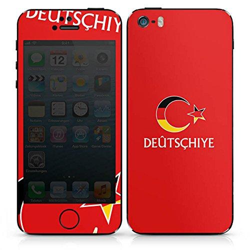 Apple iPhone 4s Case Skin Sticker aus Vinyl-Folie Aufkleber spruch Türkei Flagge DesignSkins® glänzend