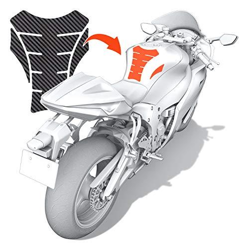 Luxshield Motorrad Tankpad Lackschutzfolie Kratzschutz für Tank - Carbon Optik & selbstklebend