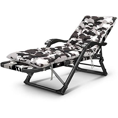 Folding Chair YAN SYF Anpassen Büro Mittagspause Stuhl | Mode Camouflage Liege | 30 Verstärkte Flachrohr Erwachsene Tragbare Klappbare Massagesessel | Home Bett Im Freien Einzelklappbett A+