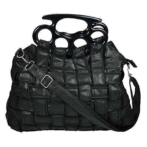 Poizen Industries Punk Top Handle Jade Tasche Schultergurt Gothic Handtasche