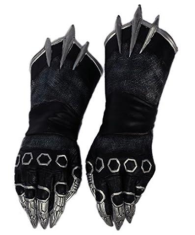 Homme Gants Noir Claw Cosplay Adultes Refroidir Costume Halloween Fancy Dress Accessoires Prop