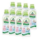 8x Frosch Baby Wäsche-Spüler 750 ml - Hypoallergen Babysanft