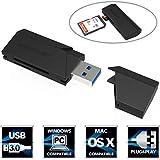 Sabrent Externe Kartenlesegeräte - Superspeed 2-Slot USB 3.0 Flash Memory Kartenleser für Windows, Mac, Linux und Bestimmte Android Systems - Unterstützt SD, SDHC, SDXC, MMC / Micro SD, T-Flash (CR-UMSS)