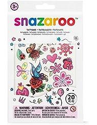 "Snazaroo Kinder Tattoo Set ""Fantasie - Mädchen"", 20 Kindertattoos mit Fantasiemotiven"