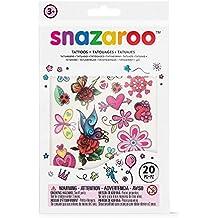 Snazaroo - Set di tatuaggi temporanei per braccia e viso, serie Girls Fantasy, per bambina