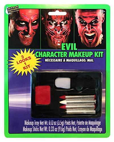 Horror-Shop Mehrteiliges Teufel Schminkset für Halloween