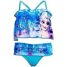 4c9670322308 Disney Frozen - Costume Bikini con Pareo/Volant Full Print Mare Piscina -  Bambina -